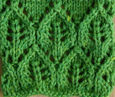 lace leaves knitting