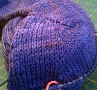 contigous sleeve cap knitting