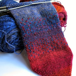hand knitted socks fairisle
