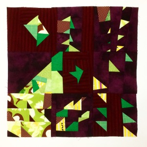 improv pieced mini quilt 4