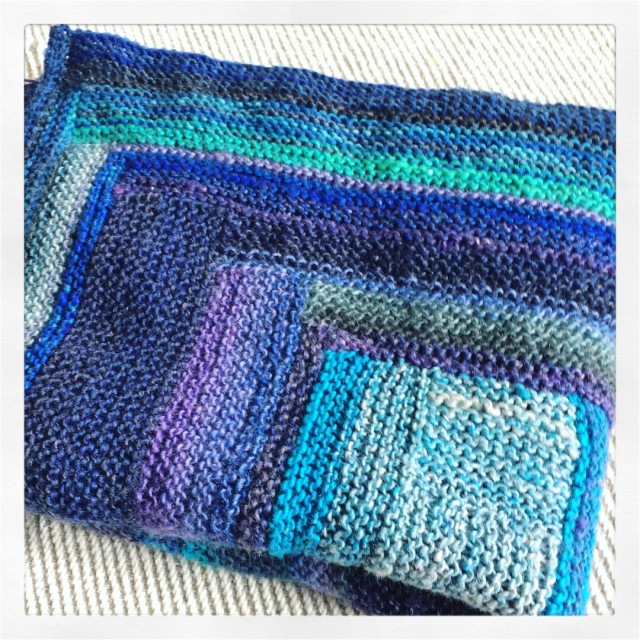 Log Cabin Knitting Rectangle
